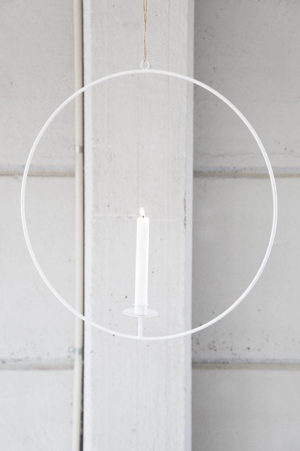 Adventskalender Special auf Youdid.Blog Schwedischer Lichtkranz in weiss Salon Wohnlich | Special Blog Adventskalender auf https://youdid.blog