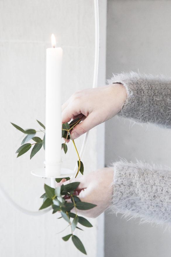 Adventskalender Special auf Youdid.Blog Schwedischer Lichtkranz weiss Salon Wohnlich | Special Blog Adventskalender auf https://youdid.blog