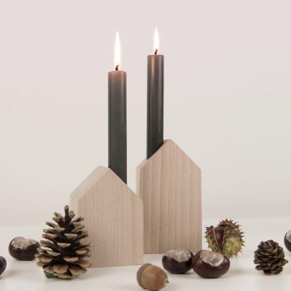 Holzhäuser Herbstdeko Kerzen Daheim Deko | Special Blog Adventskalender auf https://youdid.blog