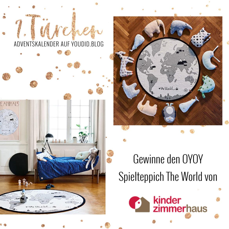 Gewinnbild Gewinne den OYOY Spielteppich The World von Kinderzimmerhaus | Special Blog Adventskalender auf https://youdid.blog
