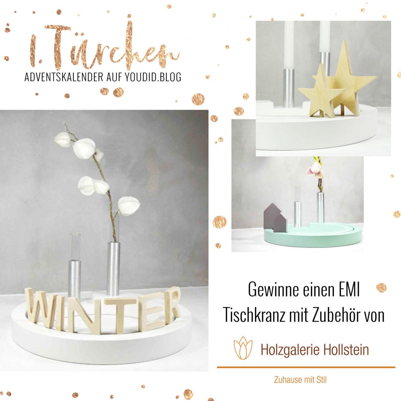 Special Adventskalender auf Youdid.Blog Gewinnbild Gewinne einen EMI Kranz Holzgalerie Hollstein | https://youdid.blog