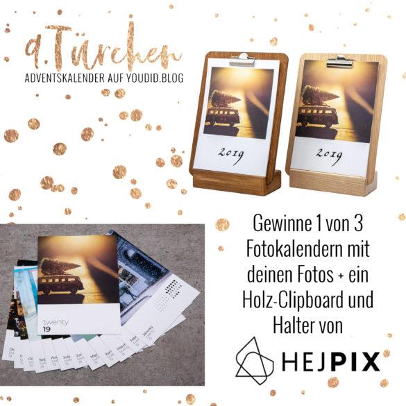 Gewinnbild Gewinne einen Fotokalender mit Clipboard von hejpix | Special Blog Adventskalender auf https://youdid.blog