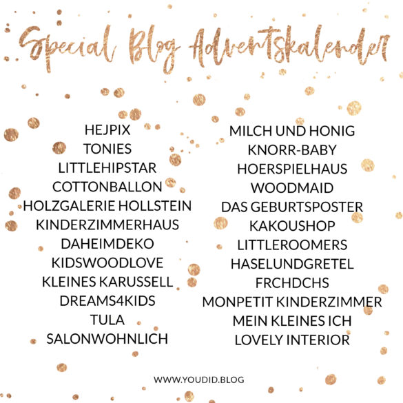 Special Blog Adventskalender auf https://youdid.blog