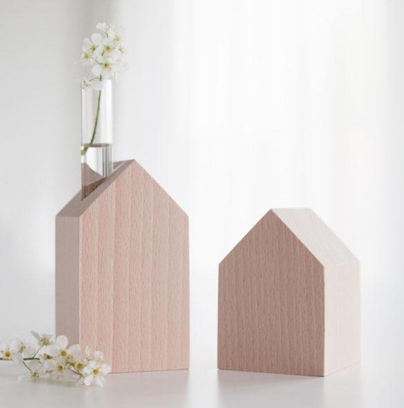 deko holzhaeuschen kerze vase daheim deko | Special Blog Adventskalender auf https://youdid.blog