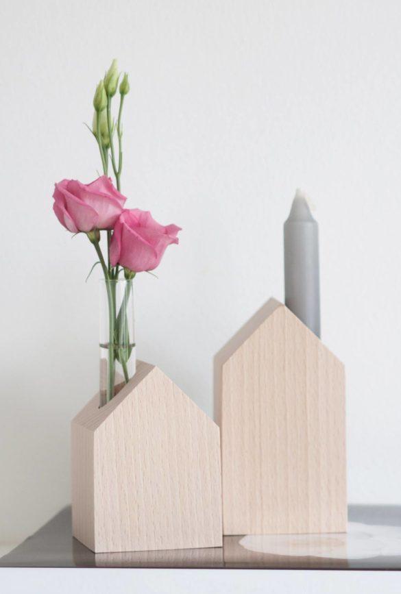 deko holzhaeuser vase daheim deko | Special Blog Adventskalender auf https://youdid.blog
