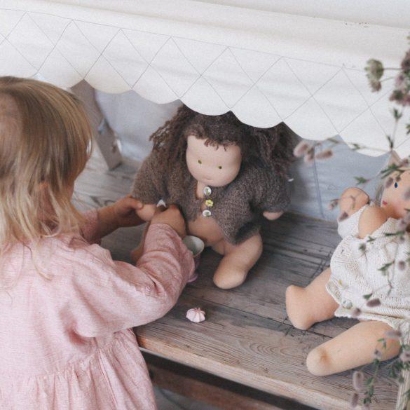 loullou puppen haus spiel bogen baby gym rosa kidswoodlove | Special Blog Adventskalender auf https://youdid.blog