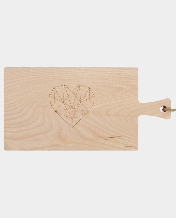 schneidebrett holz herz gravur daheim deko origami herz | Special Blog Adventskalender auf https://youdid.blog