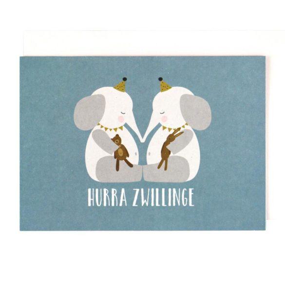 Ava Yves Klappkarte Elefanten Zwillinge mein kleines ich | Special Blog Adventskalender auf https://youdid.blog