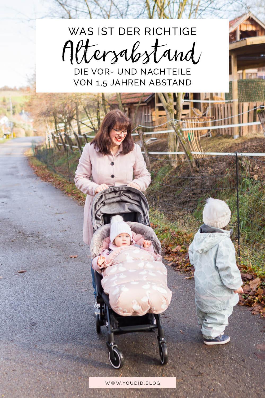 Der richtige Altersabstand beim zweiten Kind - Unterwegs mit zwei Kleinkindern - Unsere Winterausrüstung von Jollyroom | https://youdid.blog