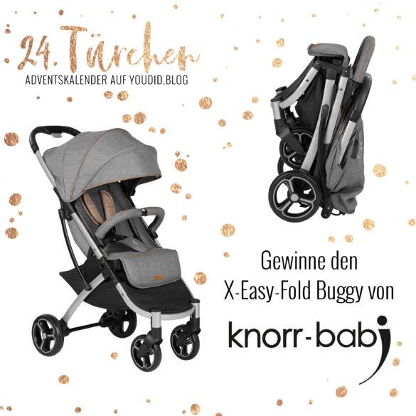 Special Adventskalender auf Youdid.Blog Gewinnbild Gewinne den X Easy Fold Buggy von knorr baby