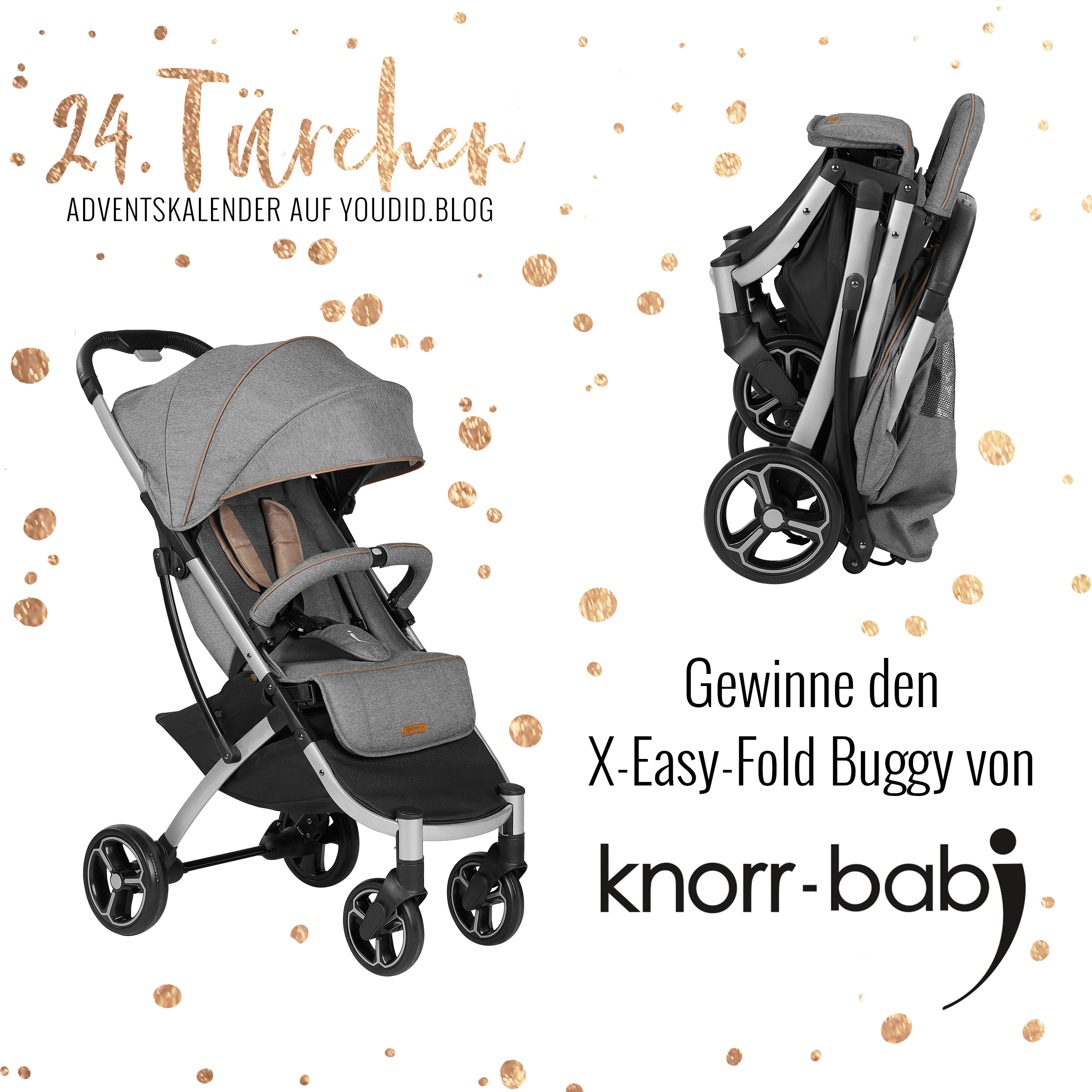Knorr Baby V-Easy Fold Sportwagen Buggy black-white