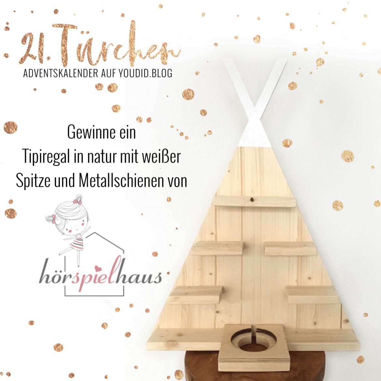 Special Adventskalender auf Youdid.Blog Gewinnbild Gewinne ein Tipiregal mit von hoerspielhaus