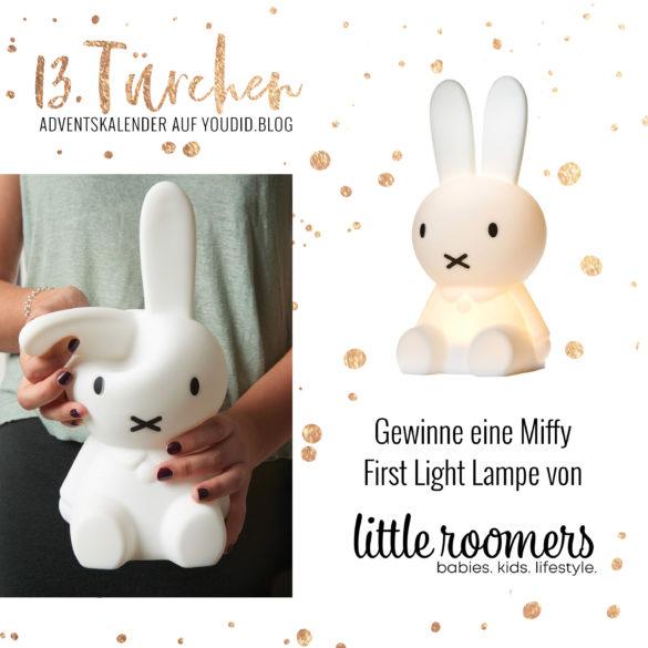 Special Adventskalender auf Youdid.Blog Gewinnbild Gewinne eine Miffy First Light Leuchte von littleroomers