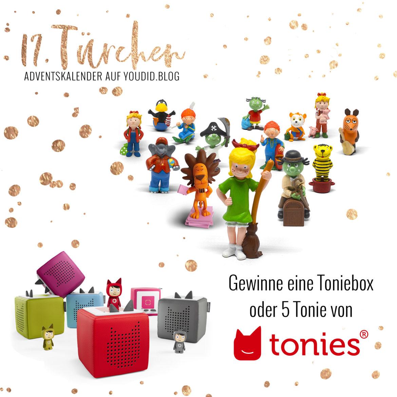Special Adventskalender auf Youdid.Blog Gewinnbild Gewinne eine Toniebox oder Toniefiguren von Tonies
