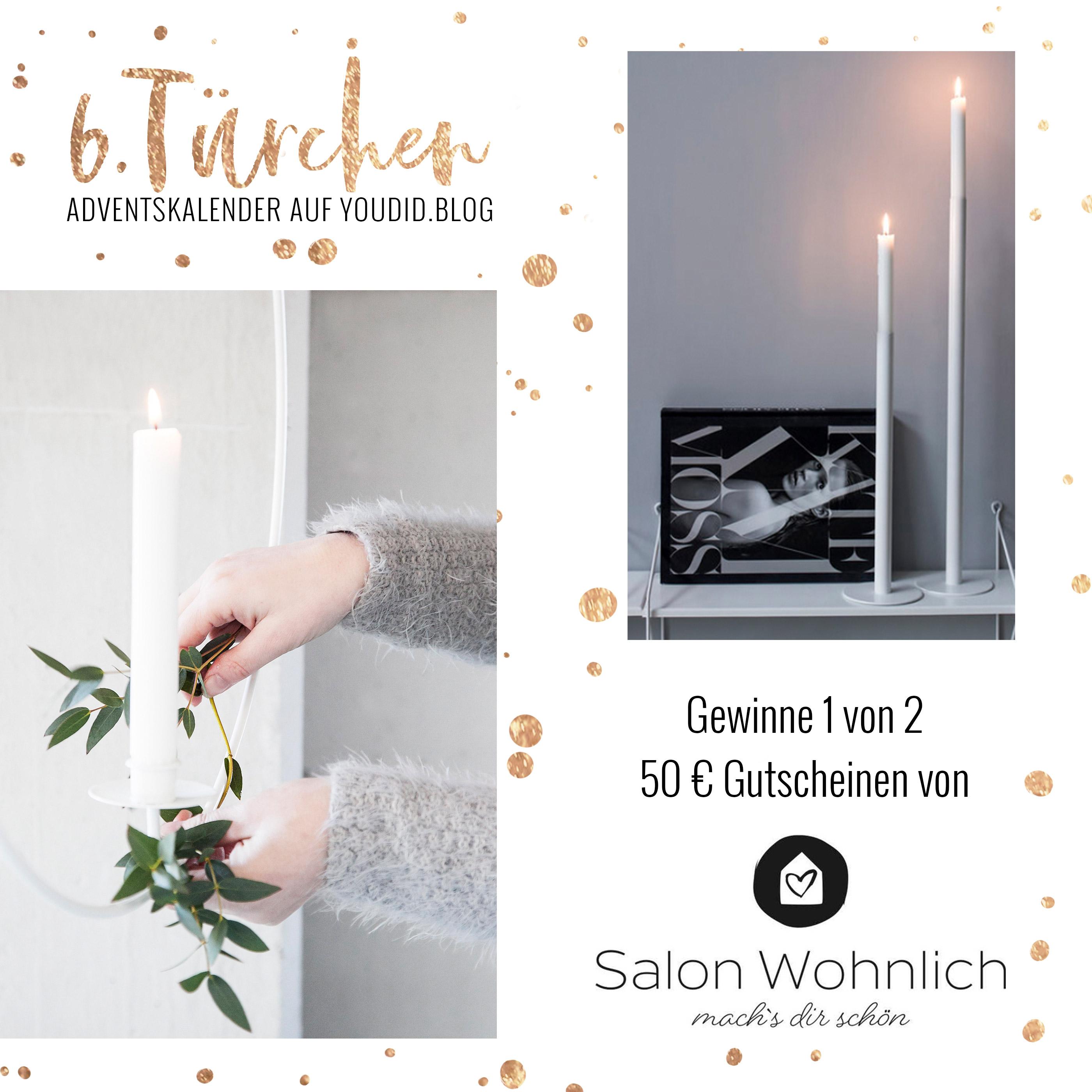 6 Türchen Gewinne Einen 50 Gutschein Von Salon Wohnlich Youdid