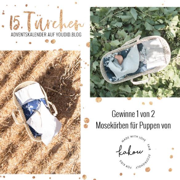 Special Adventskalender auf Youdid.Blog Gewinnbild Gewinne einen Mosekorb fuer Puppen von Kakou