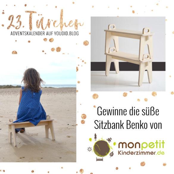 Special Adventskalender auf Youdid.Blog Gewinnbild Gewinne einer Benko Bank von monpetit Kinderzimmer