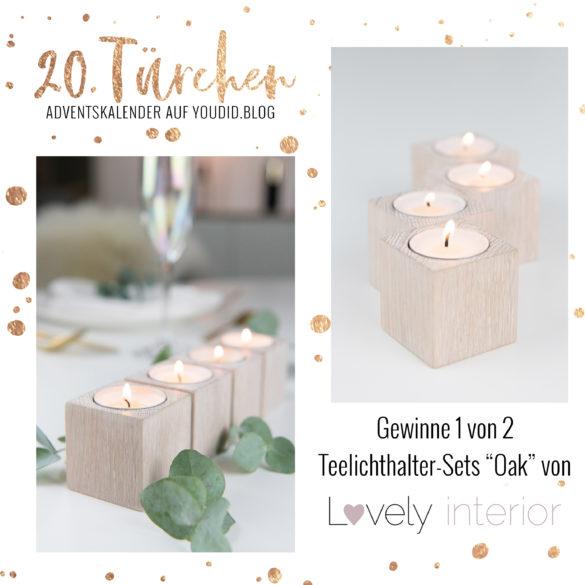 Special Adventskalender auf Youdid.Blog Gewinnbild Gewinne eins von zwei Teelichthalter Sets von lovely interior