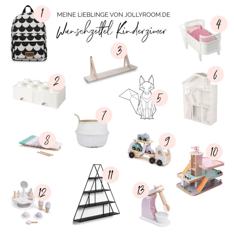 Wunschzettel Kinderzimmer Meine Lieblingsprodukte von Jollyroom.de | https://youdid.blog