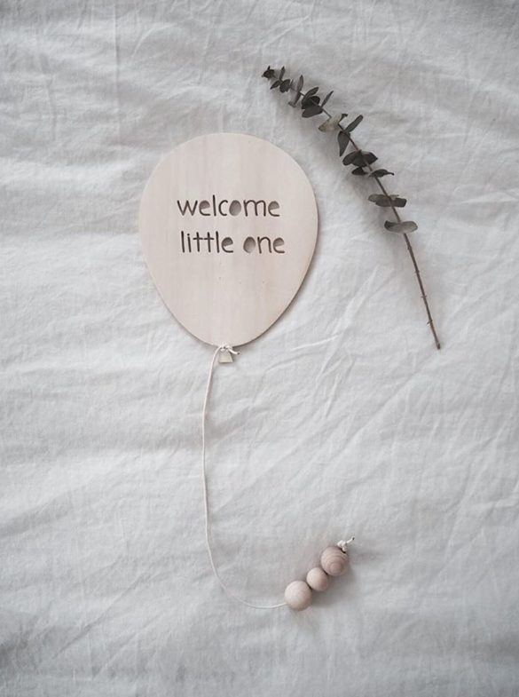 luftballon welcome little one woodmaid | Special Blog Adventskalender auf https://youdid.blog