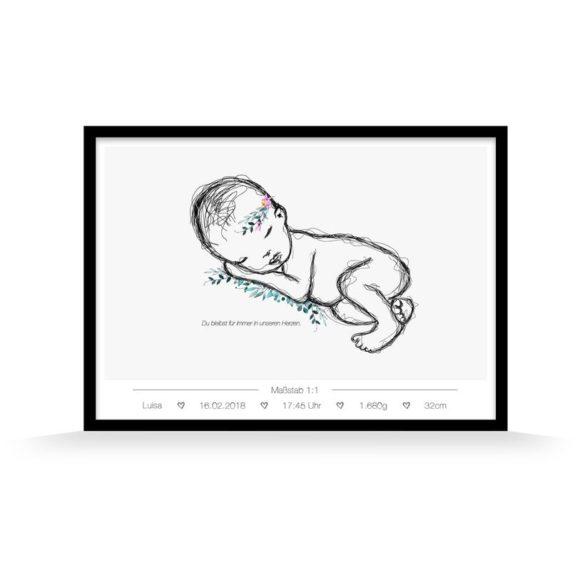 sternenkind maedchen das Geburtsposter | Special Blog Adventskalender auf https://youdid.blog