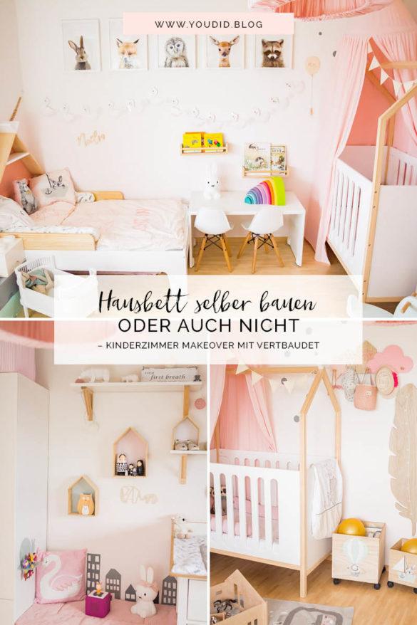 Hausbett selber bauen DIY Housebed - Kinderzimmer Makeover mit Vertbaudet nordic kidsroom rainbow | https://youdid.blog