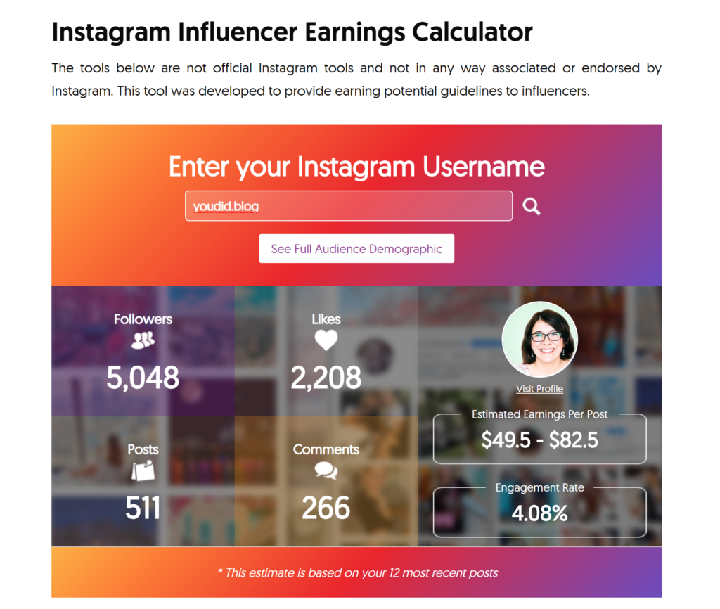 Wie viel ist mein Instagram Post wert - Geld verdienen mit Influencer Marketing - Media Value of Instagram Post - Was kostet eine Instagram Story - Influencer Money Calculator | https://youdid.blog