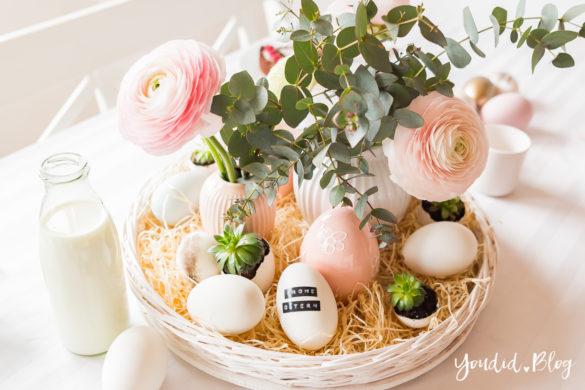 Blumenstrauss Osterbrunch mit Granola Tarte - Ideen für deinen Ostertisch - Ostern Dekoideen - Easter Decoration Happy Easter - Ostereier färben Eier bemalen - Breakfast Granola Tart | https://youdid.blog