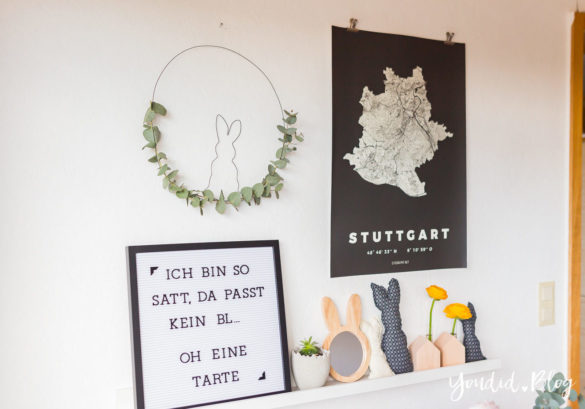 DIY Drahthase - Osterbrunch mit Granola Tarte - Dekoideen für deinen Ostertisch - Ostern Dekoideen - Easter Decoration Happy Easter - Ostereier färben Eier bemalen Osterspruch | https://youdid.blog
