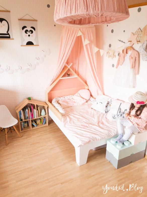 Ein Hausbett selber bauen oder auch nicht Kinderzimmer Make over DIY housebed nordic kidsroom | https://youdid.blog