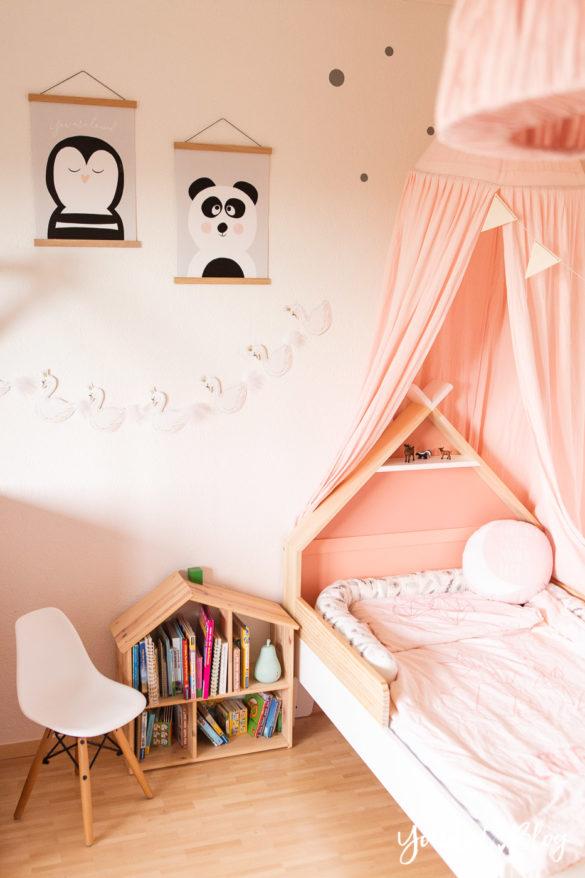 Ein Hausbett selber bauen oder auch nicht Kinderzimmer Make over DIY housebed skandinavisches Kinderzimmer | https://youdid.blog
