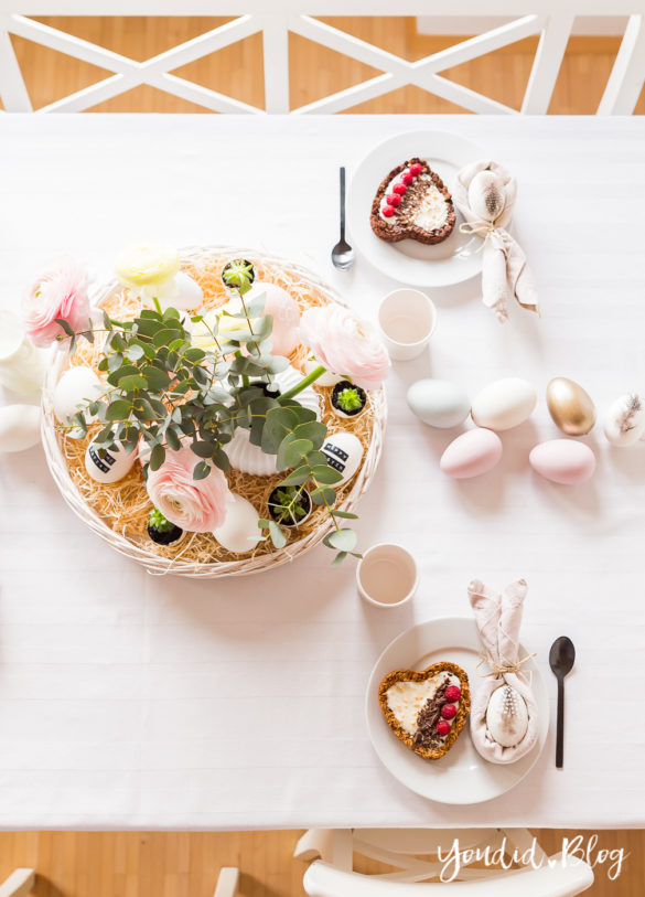Knusper Müsli Osterbrunch mit Granola Tarte - Dekoideen für deinen Ostertisch Ostern - Easter Decoration Happy Easter - Ostereier färben Eier bemalen - Breakfast Granola Tart | https://youdid.blog