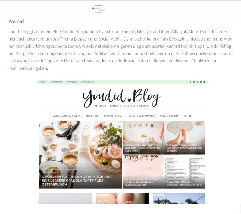 Das sind unsere top 5 Mom Blogger - blogfoster Academy - Mamablog aus Stuttgart - Youdid.Blog in der Presse | https://youdid.blog