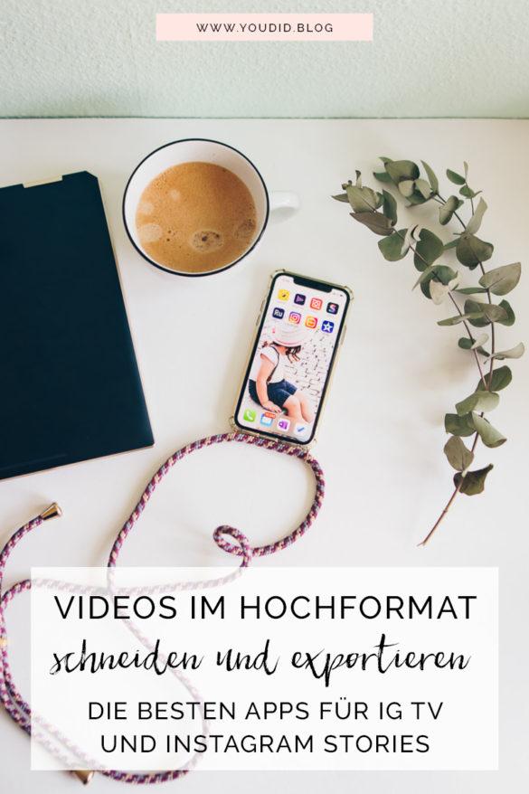 Videos im Hochformat schneiden drehen und exportieren - die besten Apps für Instagram Stories und IG TV - Flatlay iPhone Stockphoto | https://youdid.blog