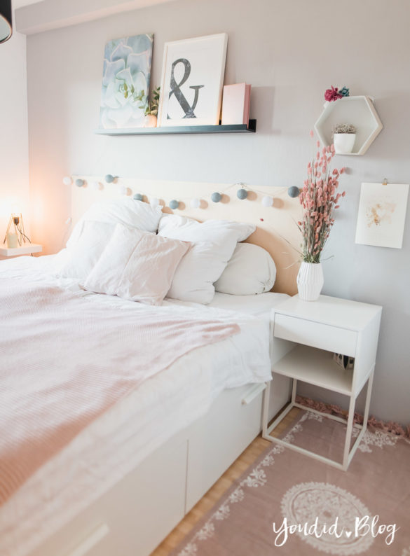 Bildergalerien im skandinavischen Wohnstil Make Over und Herbstdeko für meine Bilderleiste scandi bedroom ikea hack | https://youdid.blog