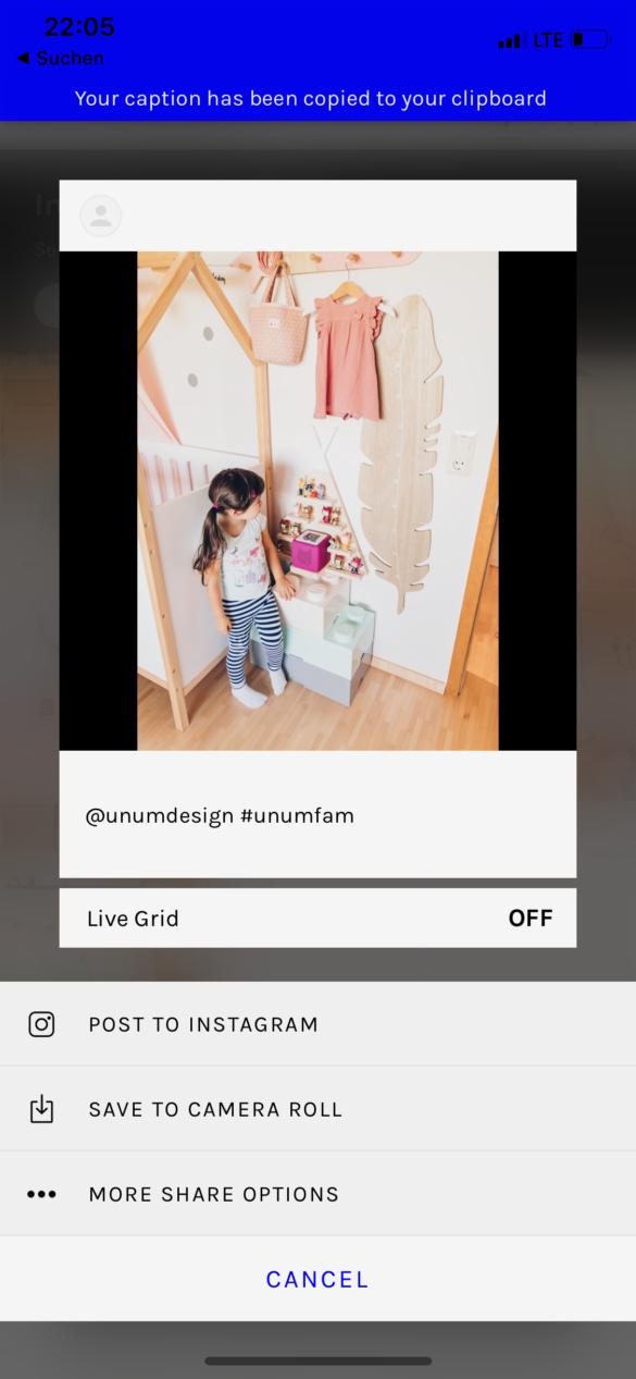 Instagram Posts vorplanen mit dem neuen Creator Studio von Facebook - Instagram Feed planen mit Unum | https://youdid.blog