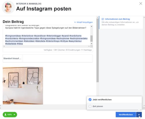 Instagram Posts vorplanen mit dem neuen Facebook Creator Studio - Instagram Feed planen | https://youdid.blog