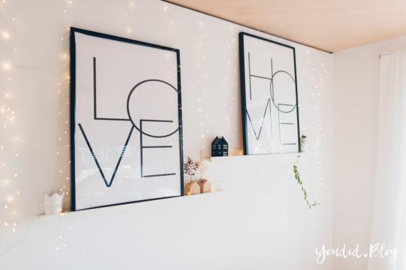 skandi Stil Wohnzimmer Make Over und Herbstdeko für meine Bilderleisten von Posterlounge | https://youdid.blog