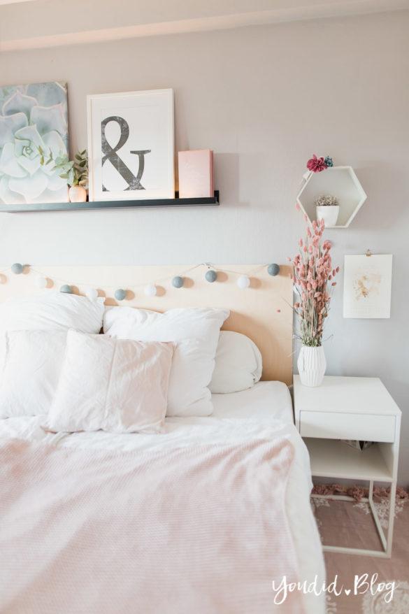 skandinavischer Wohnstil Schlafzimmer Make Over für meine Bilderleisten von Posterlounge | https://youdid.blog