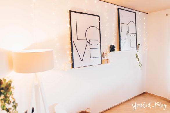 skandinavischer Wohnstil Wohnzimmer Make Over und Herbstdeko für meine Bilderleisten von Posterlounge | https://youdid.blog