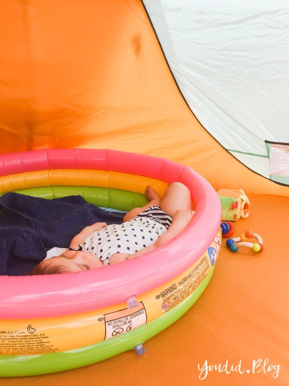 Tipps für einen Campingurlaub mit Baby und Kleinkind Reisen mit Kindern Planschbecken | https://youdid.blog