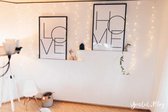 Wohnzimmer im skandi Stil Make Over und Herbstdeko für meine Bilderleisten von Posterlounge | https://youdid.blog