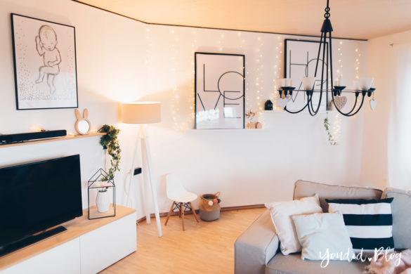Wohnzimmer im skandinavischen Wohnstil Make Over für meine Bilderleisten von Posterlounge | https://youdid.blog