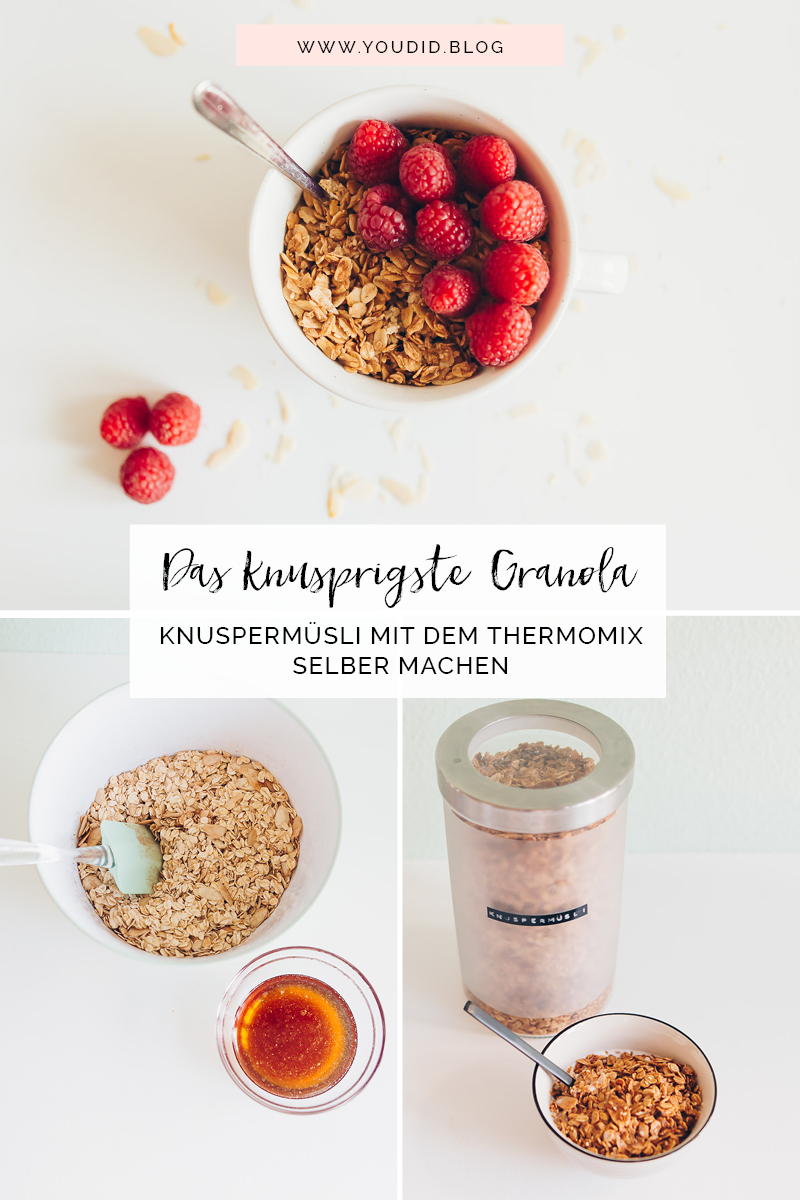 Ultra crispy Granola with Almonds - Das knusprigste Knuspermuesli mit dem Thermomix TM6 selber machen | https://youdid.blog