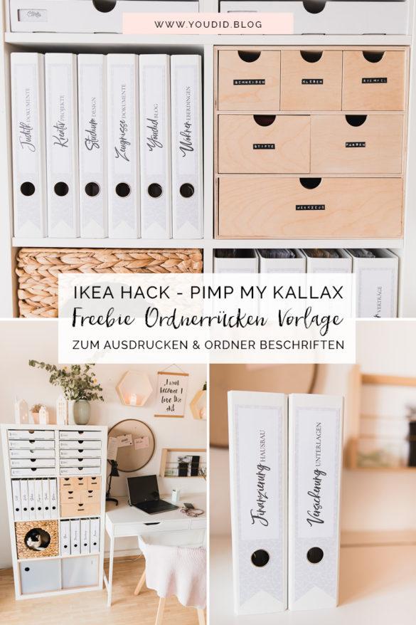 IKEA Hack - Pimp my Kallax mit New Swedish Design - DIY kostenlose Ordnerrücken Vorlage zum Ausdrucken und Ordner beschriften - Binderlabel Rückenschild Ordneretiketten Expedit | https://youdid.blog