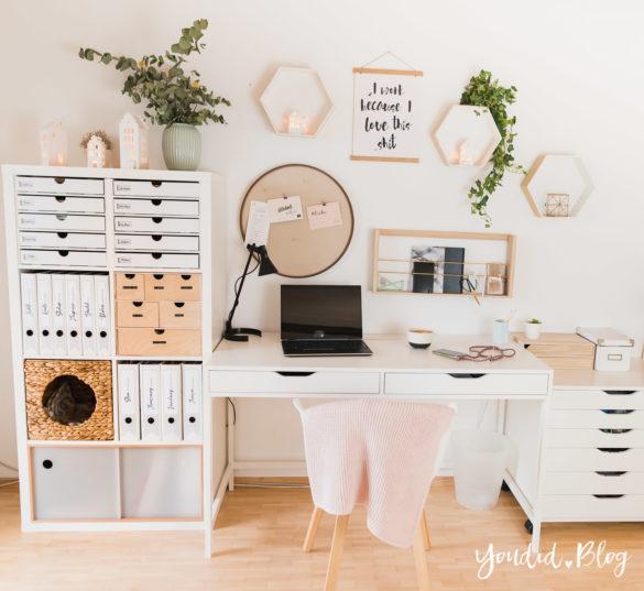 IKEA Hack - Pimp my Kallax mit New Swedish Design - kostenlose Ordnerrücken Vorlage zum Ausdrucken und Ordner beschriften - Binderlabel Rückenschild - Home Office Make Over | https://youdid.blog