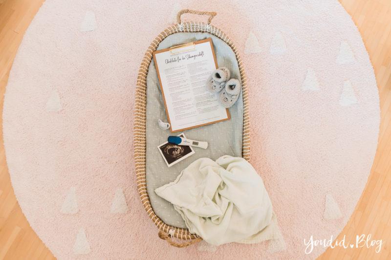 Die Checkliste für die Schwangerschaft - Erstausstattung Behördengänge Pregnancy Announcement Schwangerschaftsverkündung | https://youdid.blog