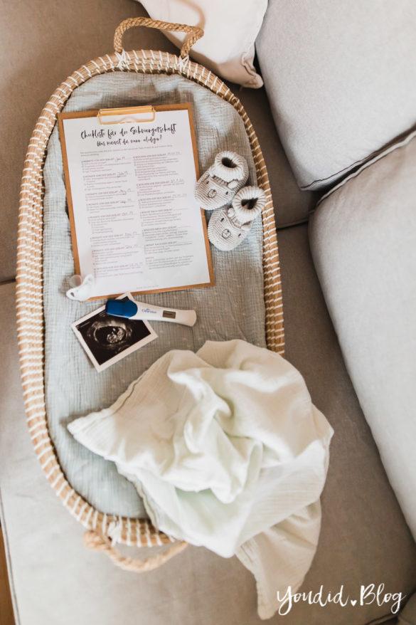 Die ultimative Checkliste für die Schwangerschaft Erstausstattung Behördengänge Termine Anmeldungen Wickelkorb Schwangerschaftstest | https://youdid.blog