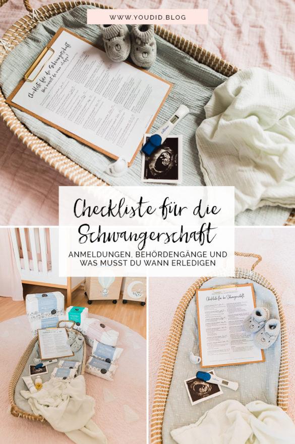 Die ultimative Checkliste für die Schwangerschaft - Pregnancy Announcement Schwangerschaftsverkündung - Behördengänge Anträge Anmeldungen wann musst du was | https://youdid.blog