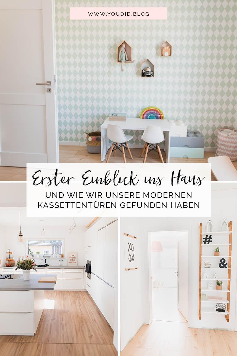 Erster Rundgang Room Tour Neubau Schöne Zimmertüren Moderne Kassettentüren von Tür und Zarge | https://youdid.blog